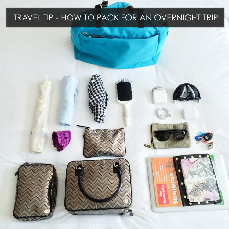 Travel Tip - Packing for an Overnight Trip - Hitha On The Go